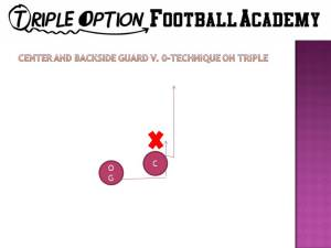 center and backside guard v 0 technique on triple option