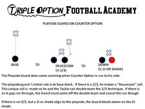 PLAYSIDE GUARD ON COUNTER OPTION