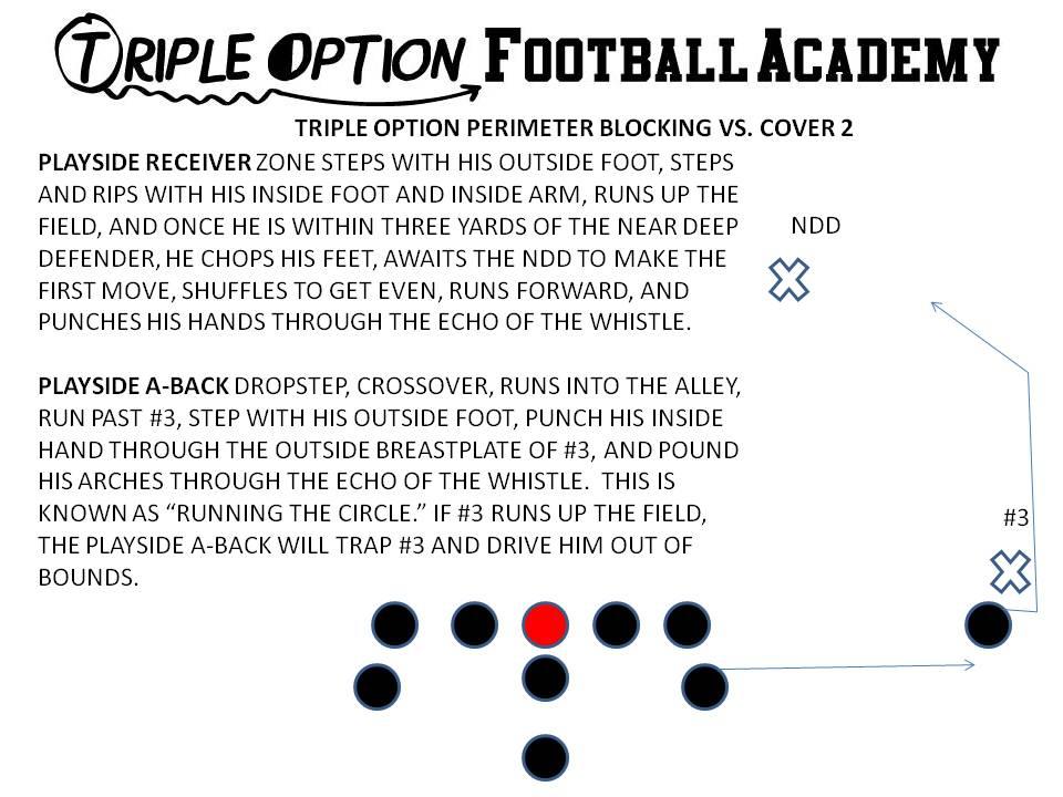 Triple Option Perimeter Blocking versus Cover2