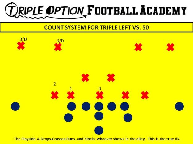 COUNT SYSTEM FOR TRIPLE LEFT VS. 50.