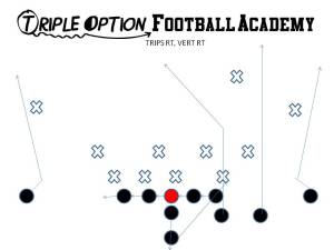 Trips Right, Vert Right.  This takes advantage of one-high safety defenses and forces the safety to declare himself.