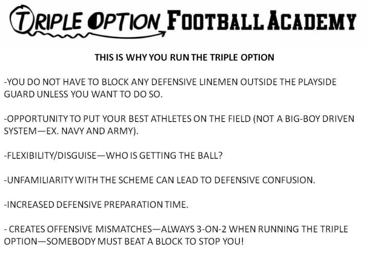 this is why you run the triple option