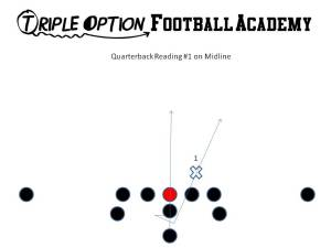 QUARTERBACK READ PROGRESSION ON MIDLINE