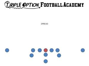 Spread Formation.  This is the default formation of the Triple Option Offense.