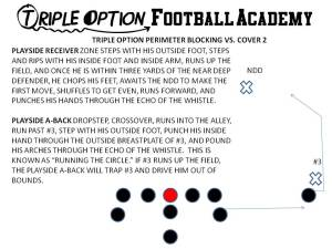 Triple Option Perimeter Blocking versus Cover 2.